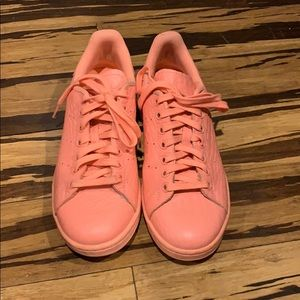 Peach Adidas Stan Smith sneakers
